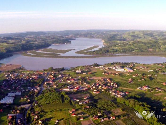 Zdjęcia z Lotu Ptaka – Jezioro Rożnowskie, Czchów, Dunajec 2014 Fala Powodziowa