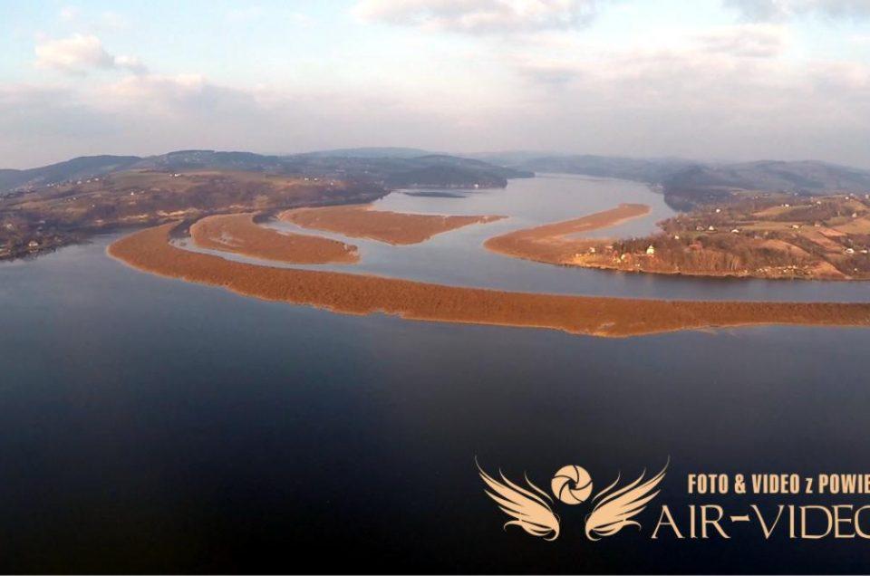 Jezioro Rożnowskie i Tęgoborze z Lotu Ptaka – Kilka fotek z powietrza